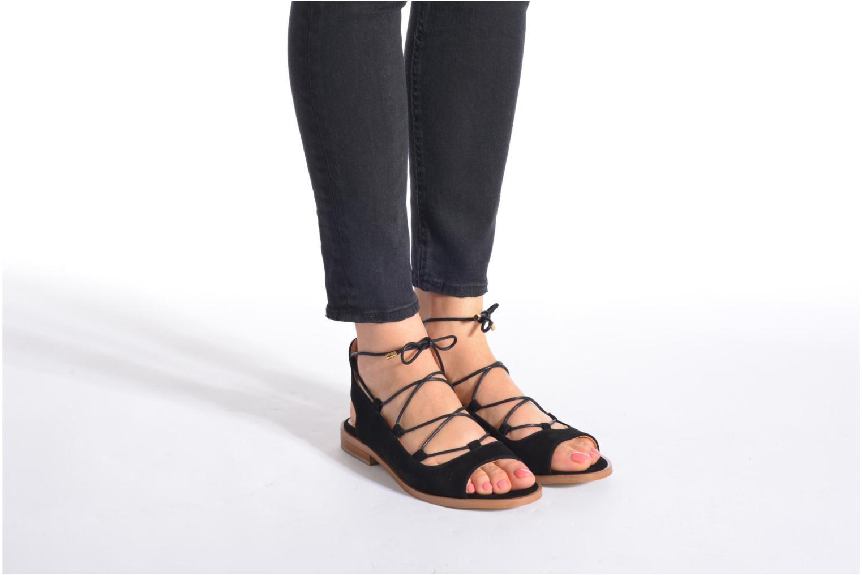 Sandales et nu-pieds Made by SARENZA Discow Girl #4 Noir vue bas / vue portée sac