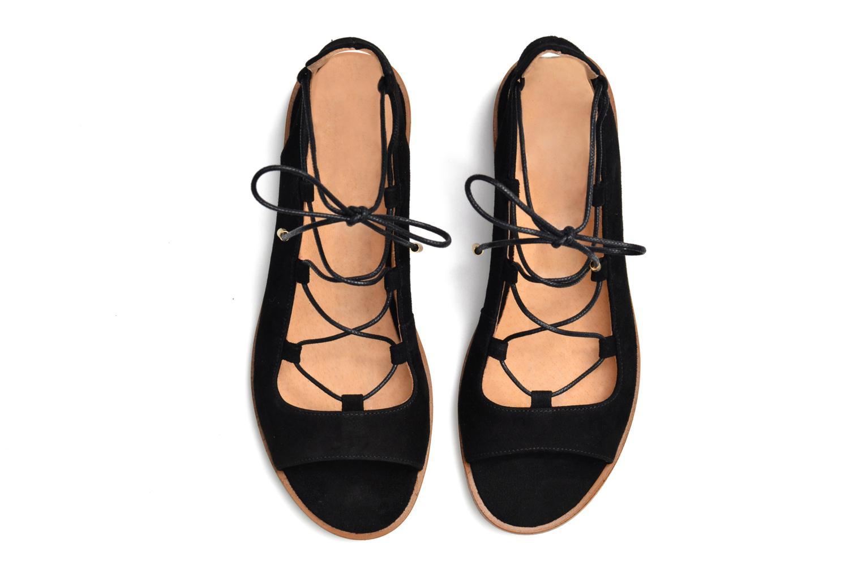 Sandales et nu-pieds Made by SARENZA Discow Girl #4 Noir vue haut
