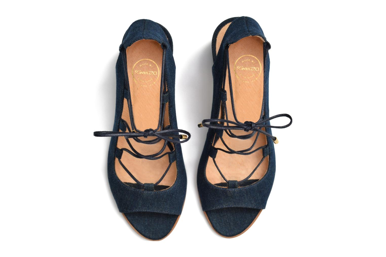 Sandales et nu-pieds Made by SARENZA Discow Girl #5 Bleu vue haut