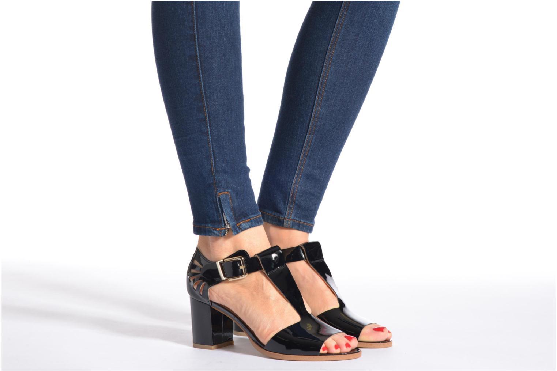 Sandales et nu-pieds Made by SARENZA Square Simone#4 Noir vue bas / vue portée sac
