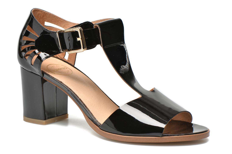 Sandales et nu-pieds Made by SARENZA Square Simone#4 Noir vue face