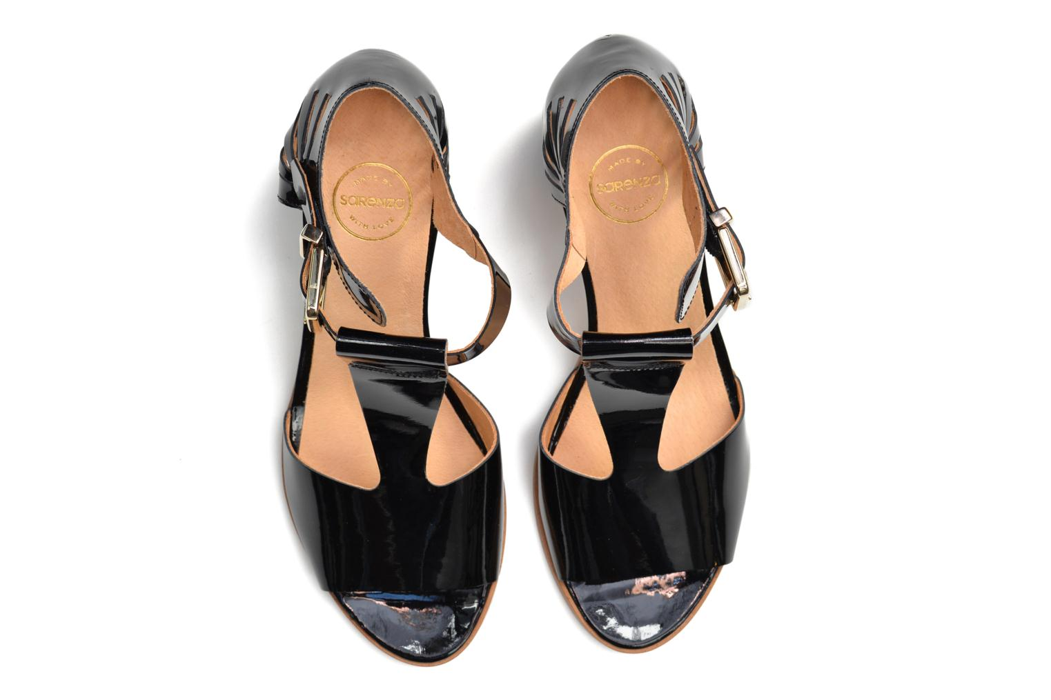 Sandals Made by SARENZA Square Simone#4 Black view from above