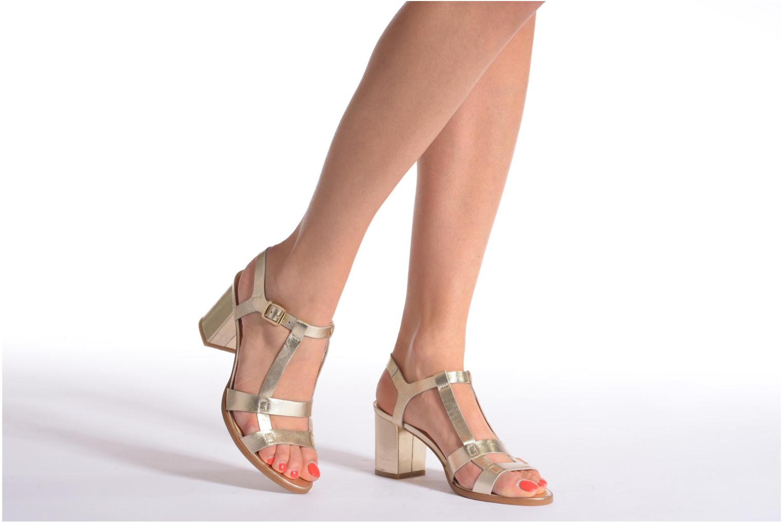 Sandalias Made by SARENZA Square Simone#5 Oro y bronce vista de abajo