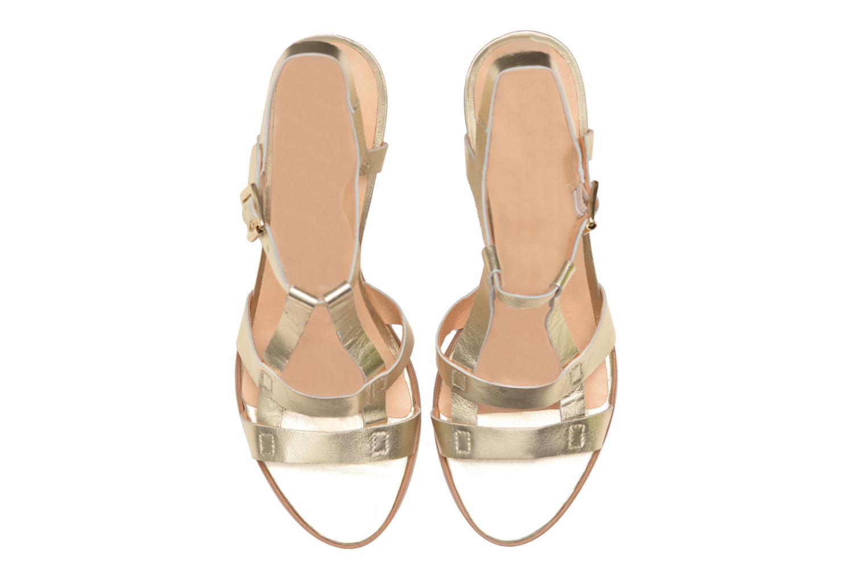 Sandalias Made by SARENZA Square Simone#5 Oro y bronce vista del modelo