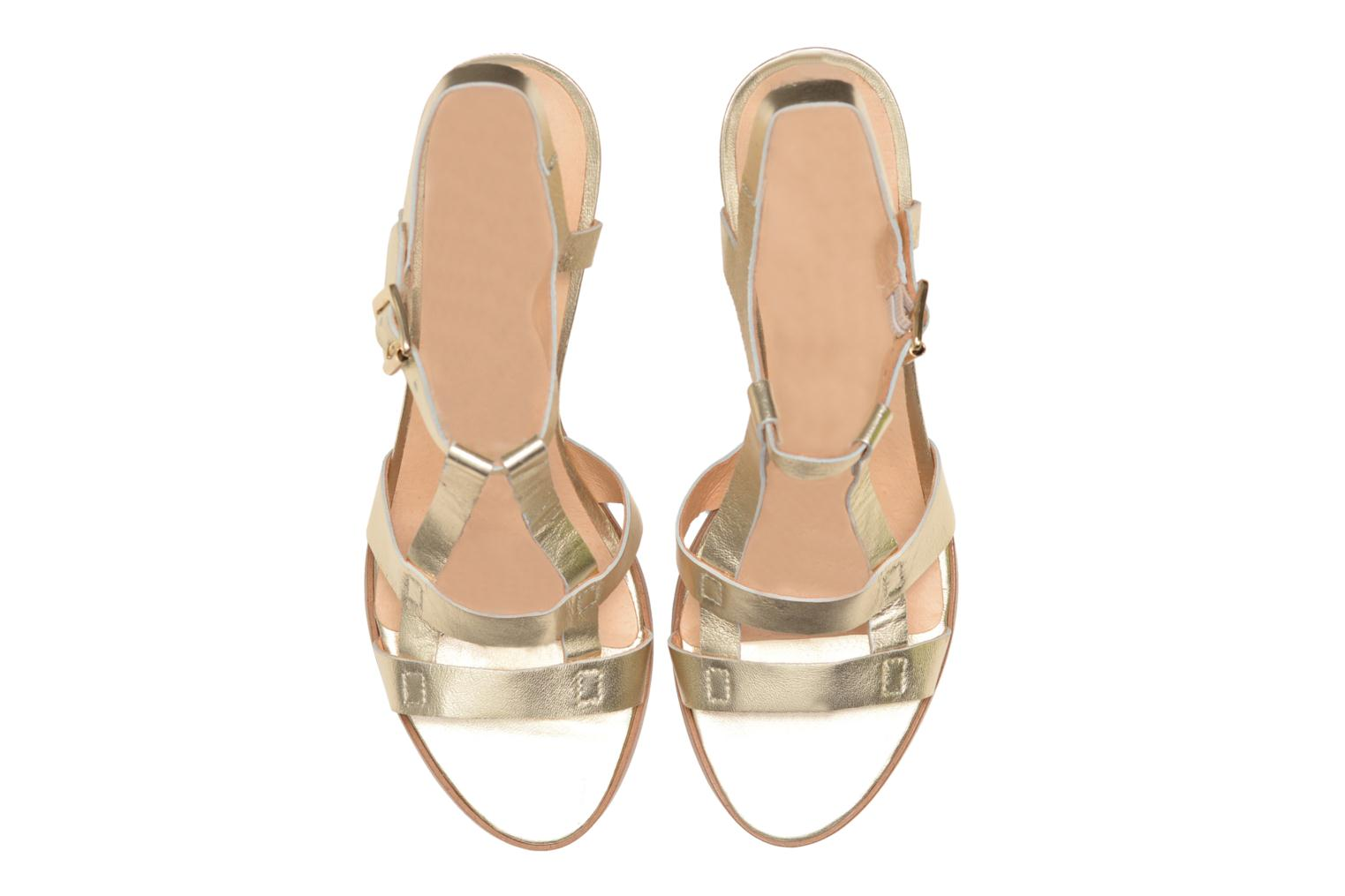 Sandals Made by SARENZA Square Simone#5 Bronze and Gold model view