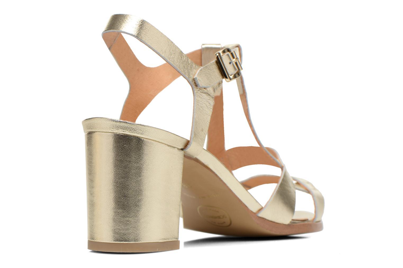 Sandalias Made by SARENZA Square Simone#5 Oro y bronce vista de frente
