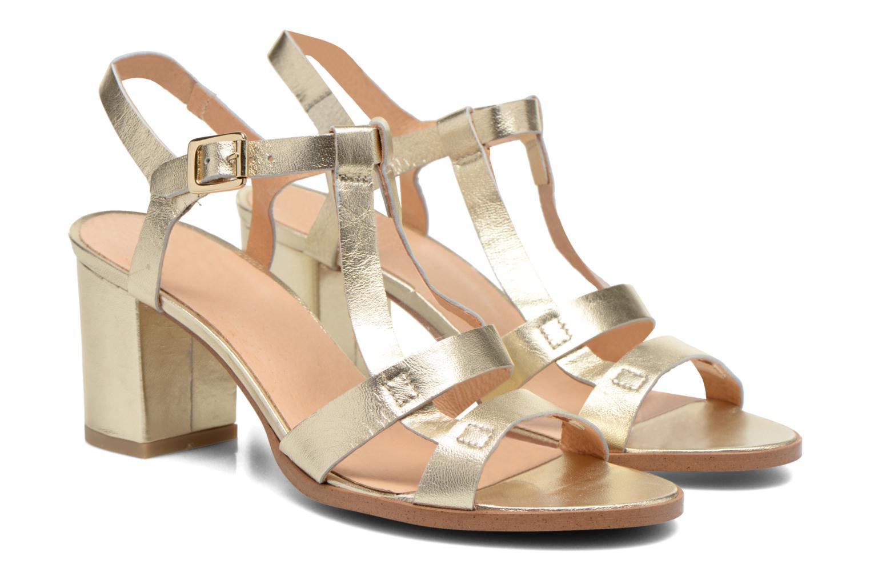 Sandalen Made by SARENZA Square Simone#5 Goud en brons achterkant
