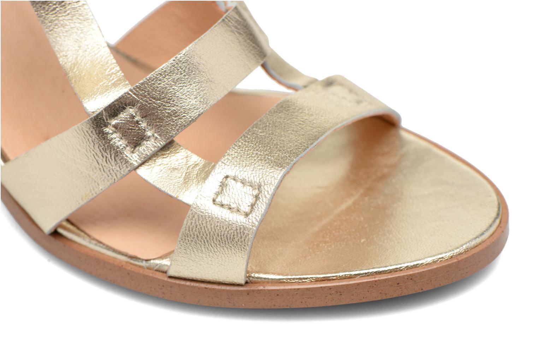 Sandalias Made by SARENZA Square Simone#5 Oro y bronce vista lateral izquierda