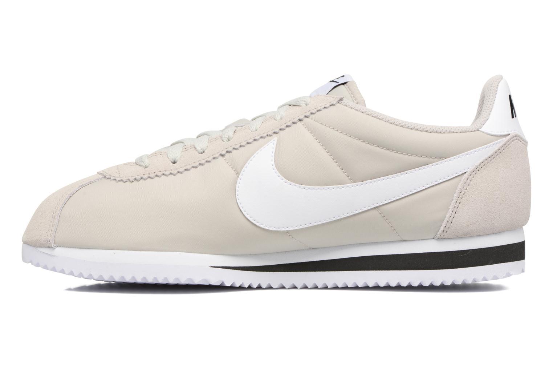 Sneakers Nike Classic Cortez Nylon Beige voorkant