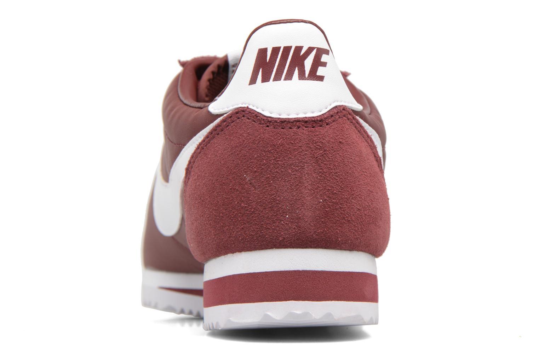 Sneakers Nike Classic Cortez Nylon Bordò immagine destra