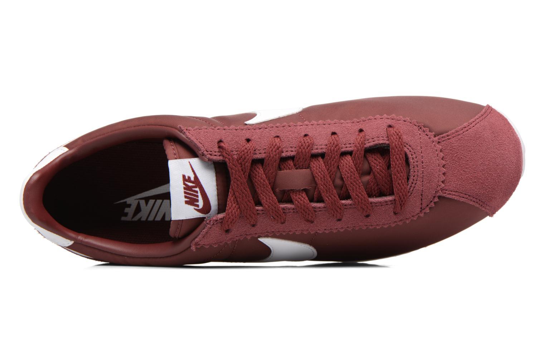 Sneakers Nike Classic Cortez Nylon Bordò immagine sinistra