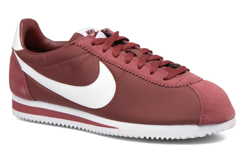 Deportivas Nike Classic Cortez Nylon Vino vista de detalle / par