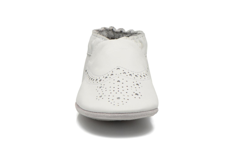 Chaussons Robeez Smart Blanc vue portées chaussures