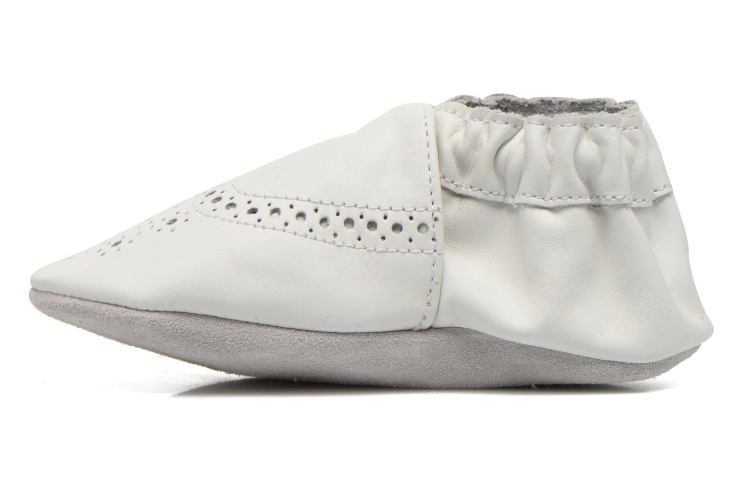 Chaussons Robeez Smart Blanc vue face