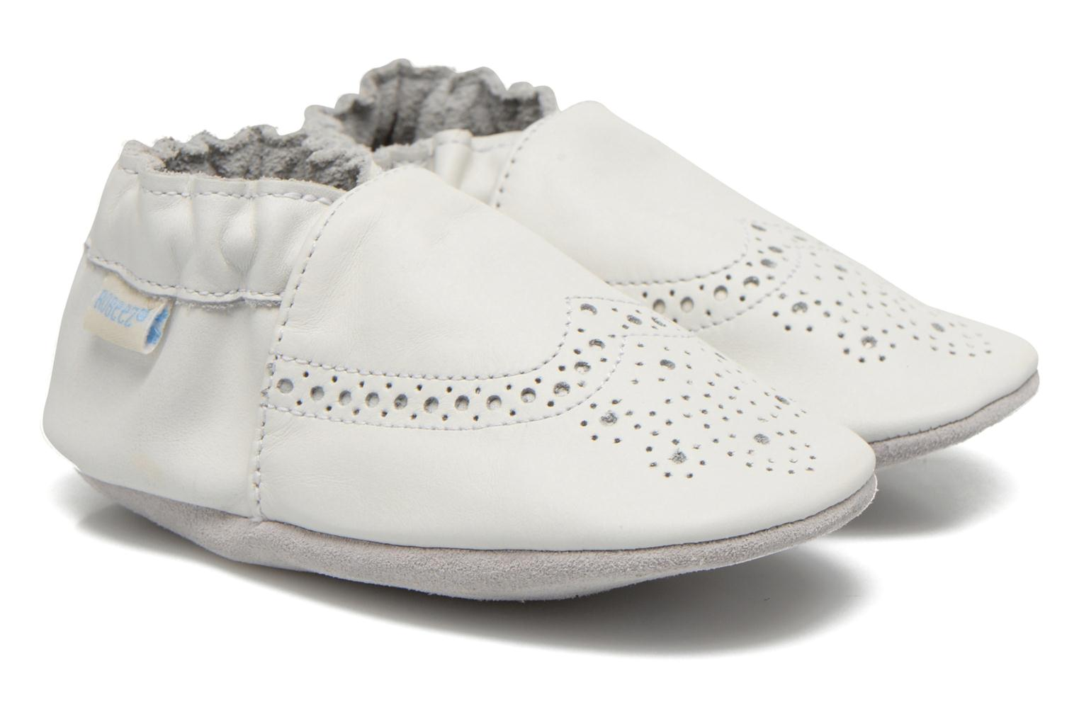 Pantoffels Robeez Smart Wit detail