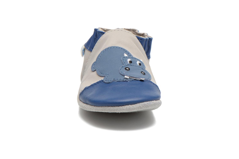 Chaussons Robeez Plouf Gris vue portées chaussures