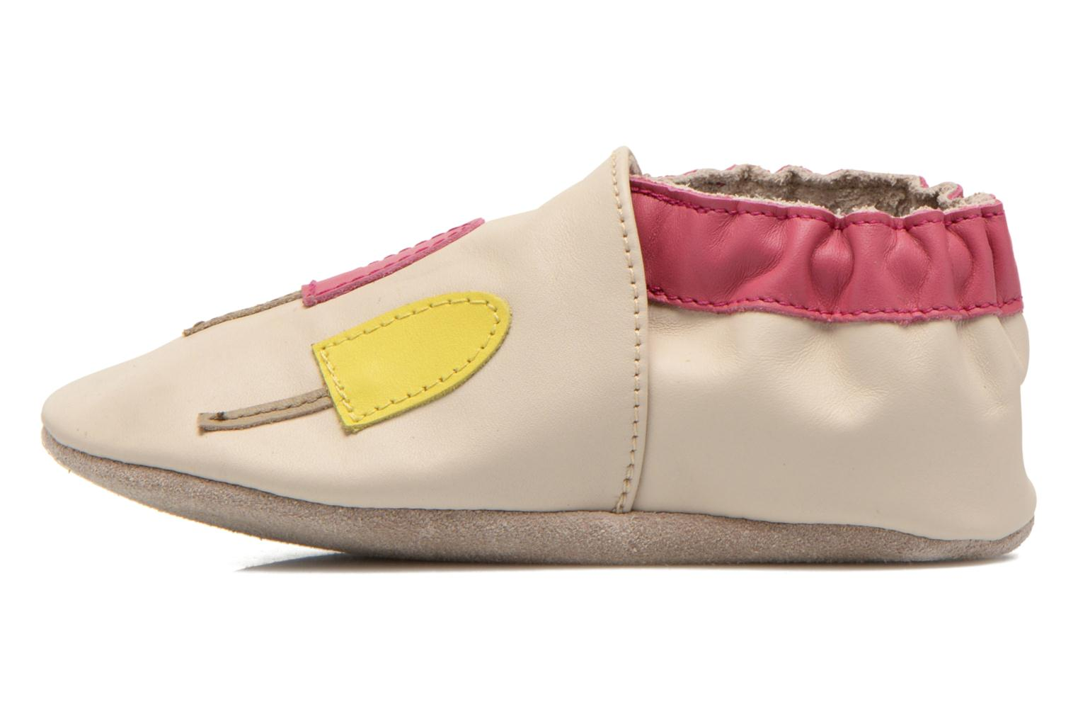 Chaussons Robeez Ice Cream Beige vue face