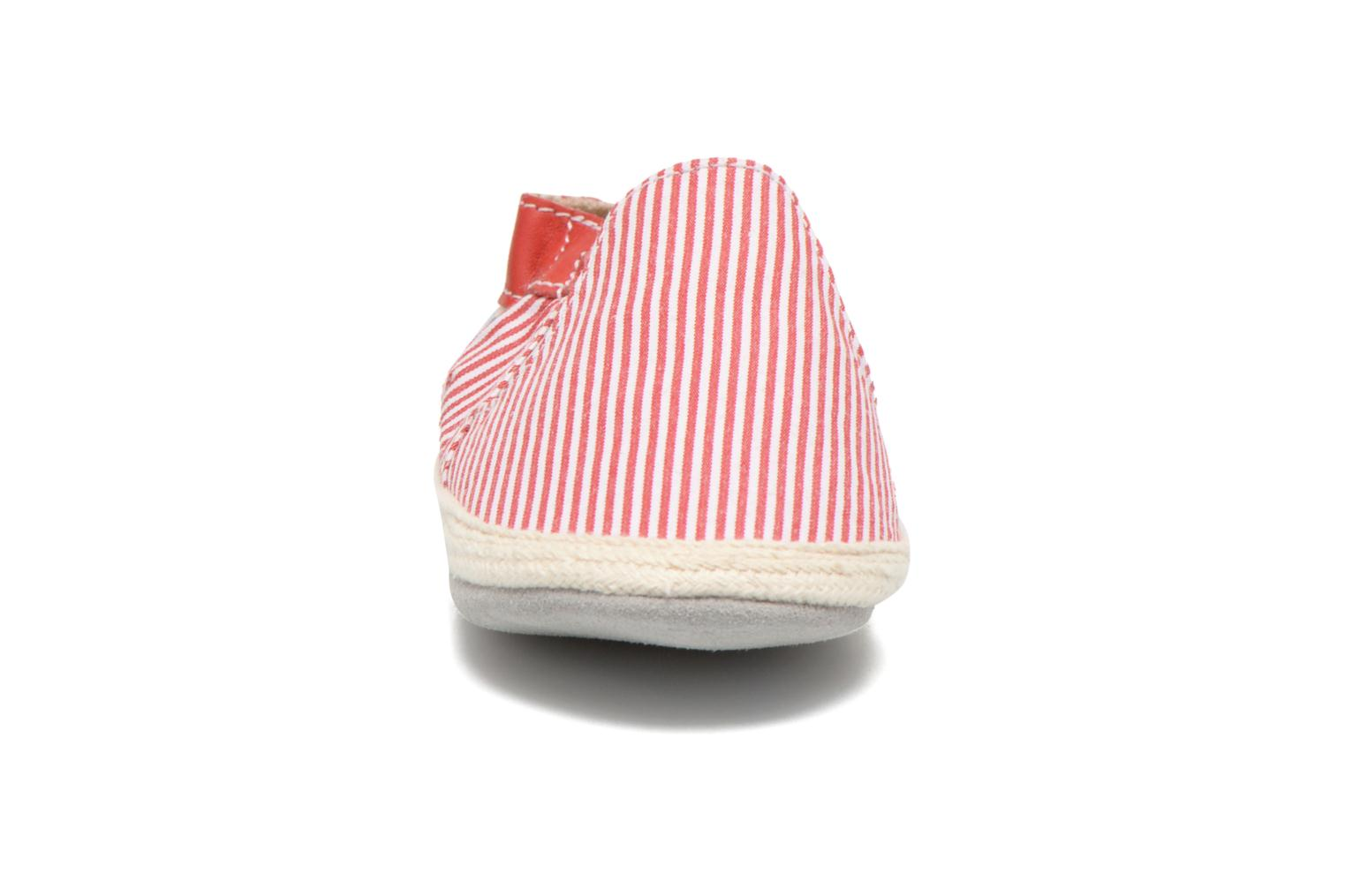 Chaussons Robeez Summer Camp Rouge vue portées chaussures