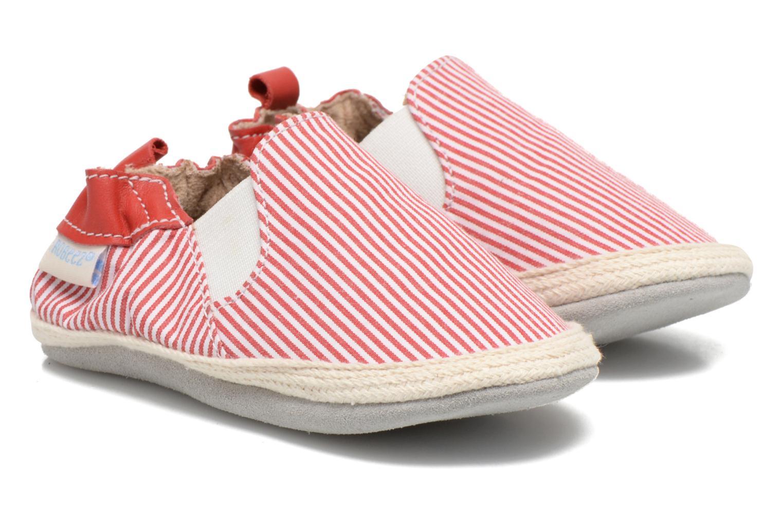 Hjemmesko Robeez Summer Camp Rød detaljeret billede af skoene
