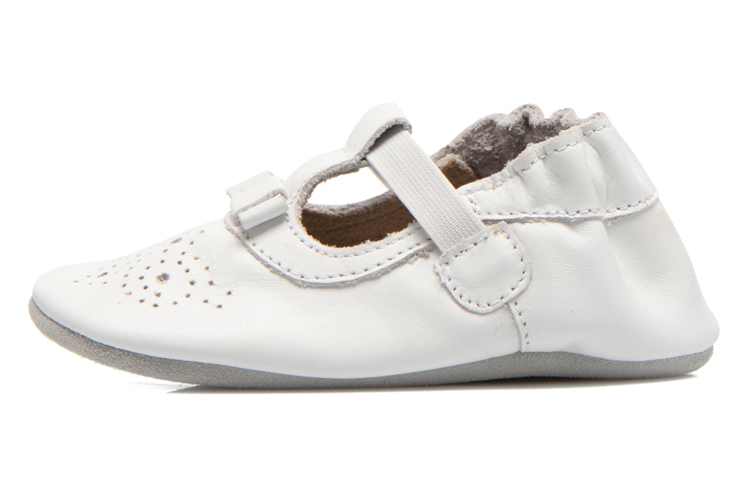 Chaussons Robeez Pretty Girl Blanc vue face