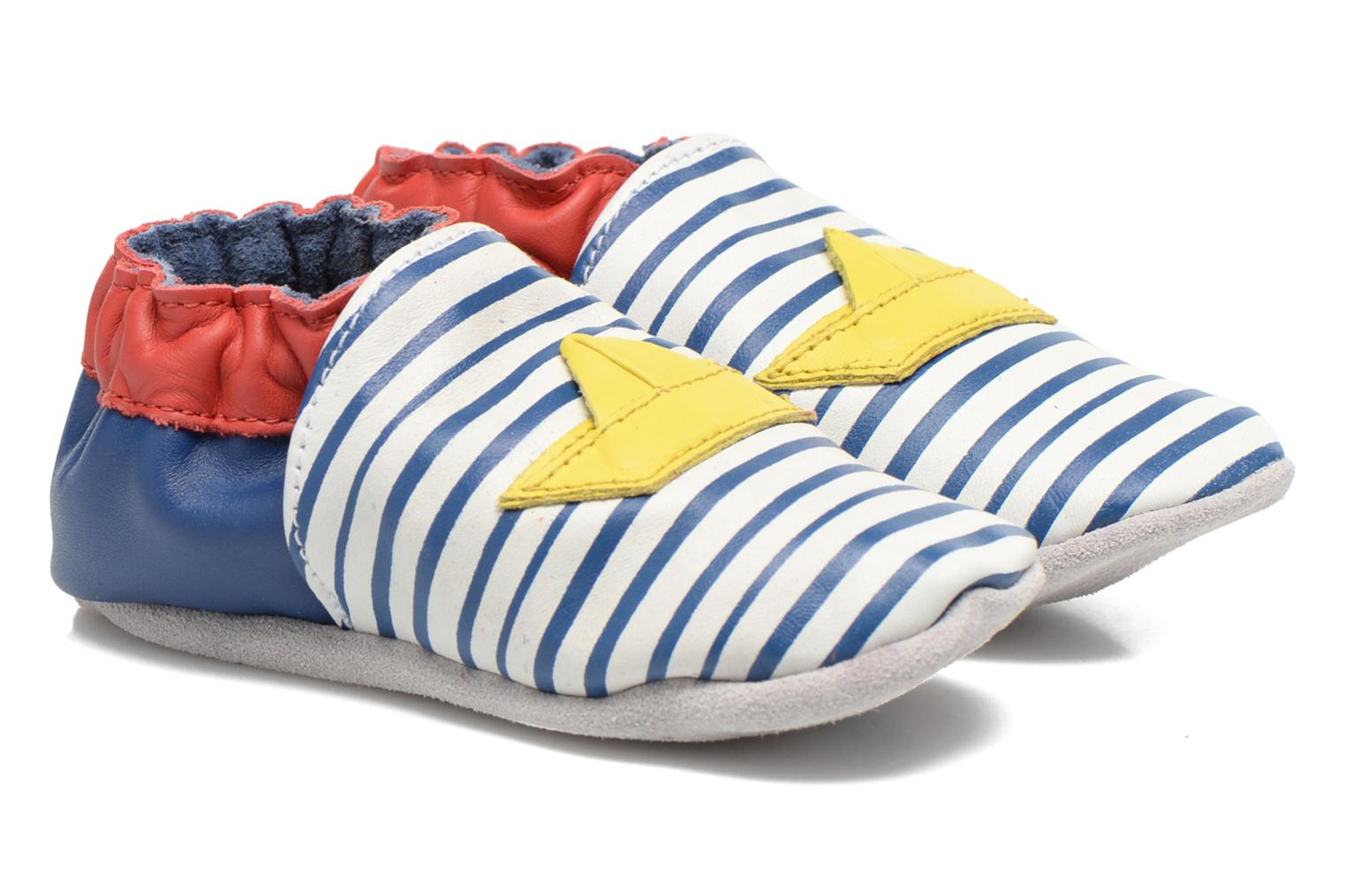 Slippers Robeez My Little Boat Blue detailed view/ Pair view