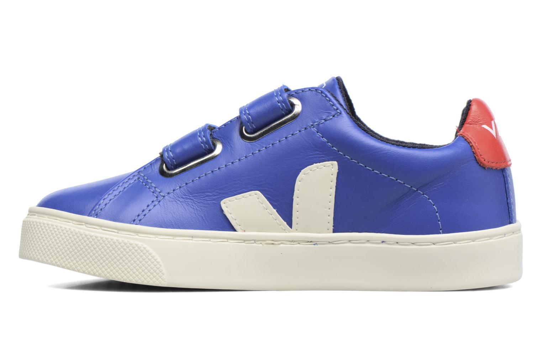 Sneaker Veja Esplar Small Velcro blau ansicht von vorne