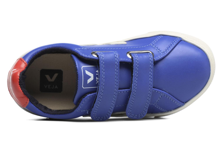 Nautico Gold Yellow Leather Veja Esplar Small Velcro (Bleu)
