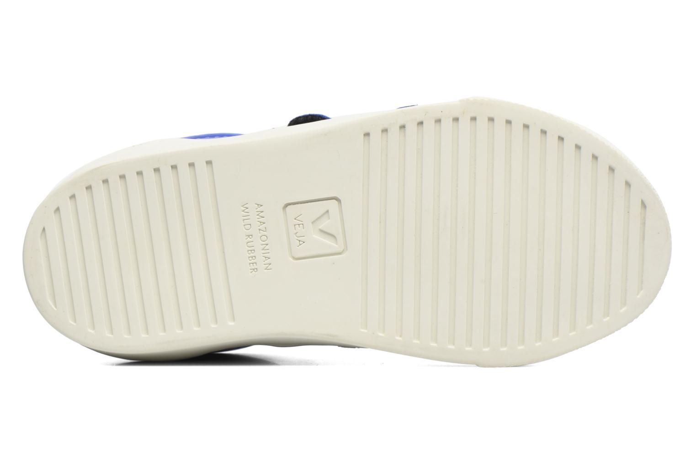 Sneaker Veja Esplar Small Velcro blau ansicht von oben