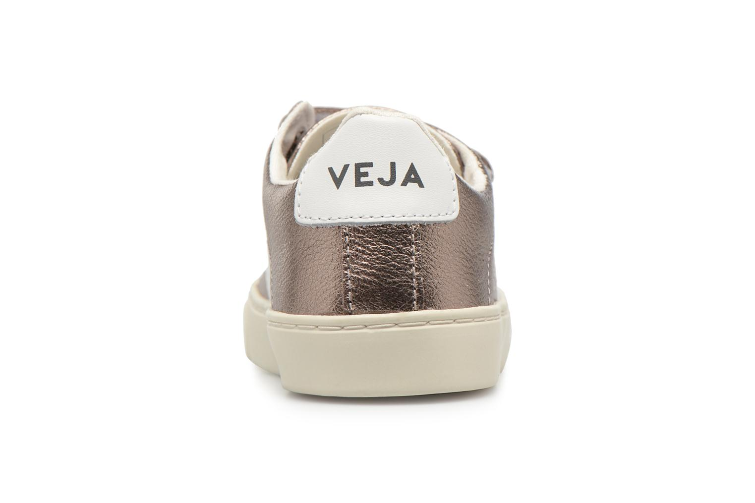 Trainers Veja Esplar Small Velcro Bronze and Gold view from the right