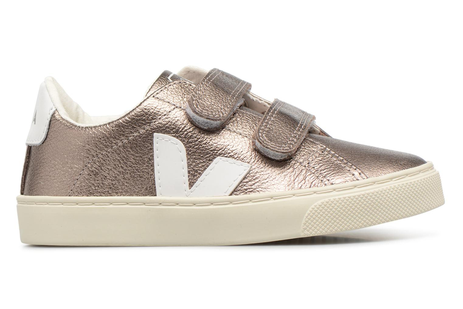 Trainers Veja Esplar Small Velcro Bronze and Gold back view