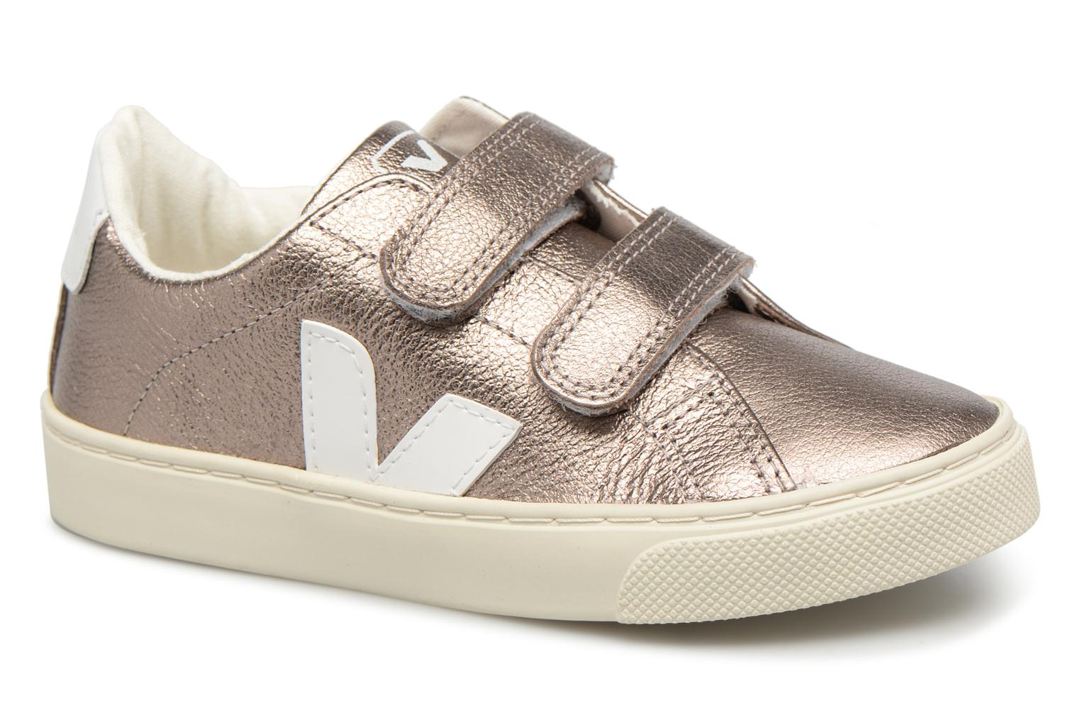 Trainers Veja Esplar Small Velcro Bronze and Gold detailed view/ Pair view