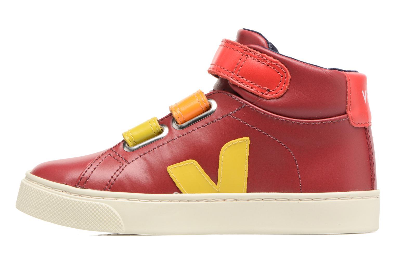 Sneaker Veja Esplar Mid Small Velcro rot ansicht von vorne