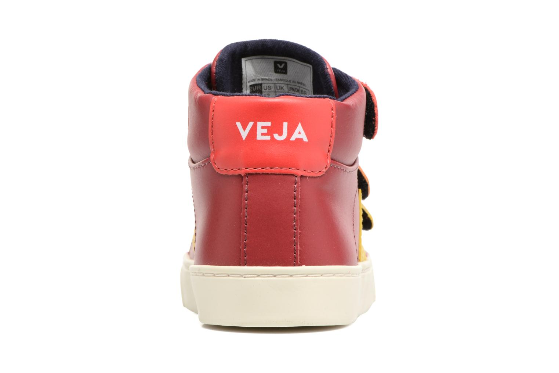 Sneakers Veja Esplar Mid Small Velcro Rood rechts