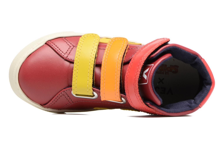 Sneaker Veja Esplar Mid Small Velcro rot ansicht von links