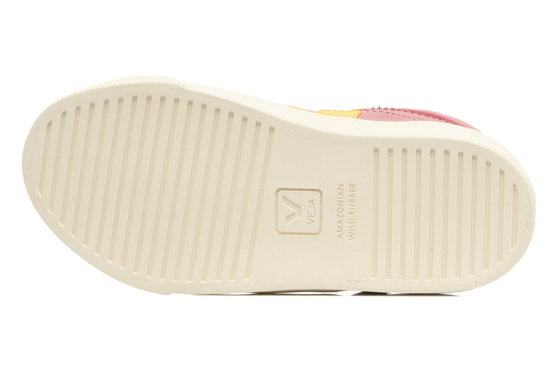 Sneaker Veja Esplar Mid Small Velcro rot ansicht von oben