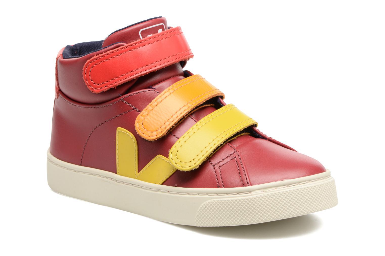 Sneakers Veja Esplar Mid Small Velcro Rood detail