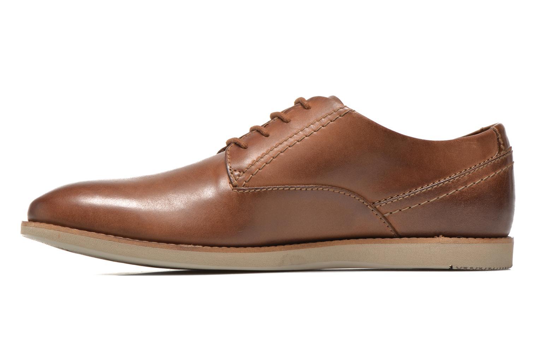 Snörade skor Clarks Franson Plain Brun bild från framsidan