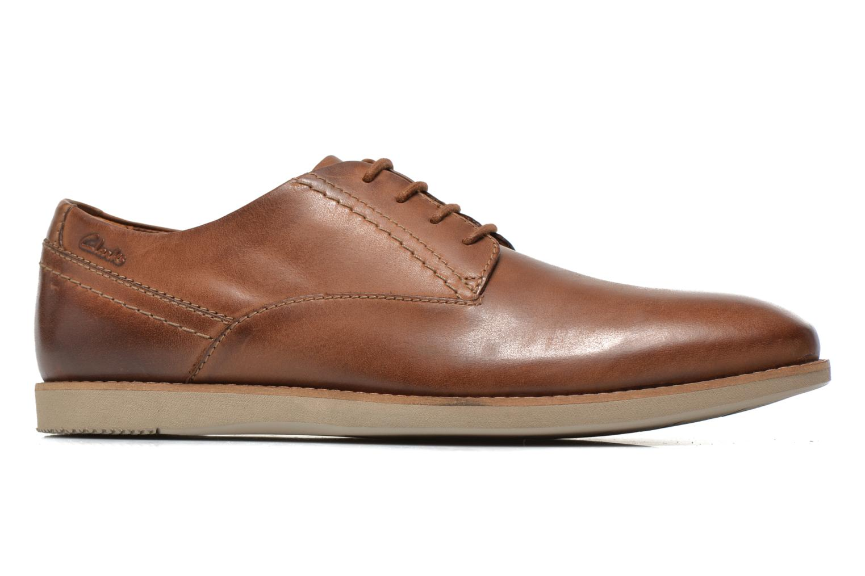 Snörade skor Clarks Franson Plain Brun bild från baksidan