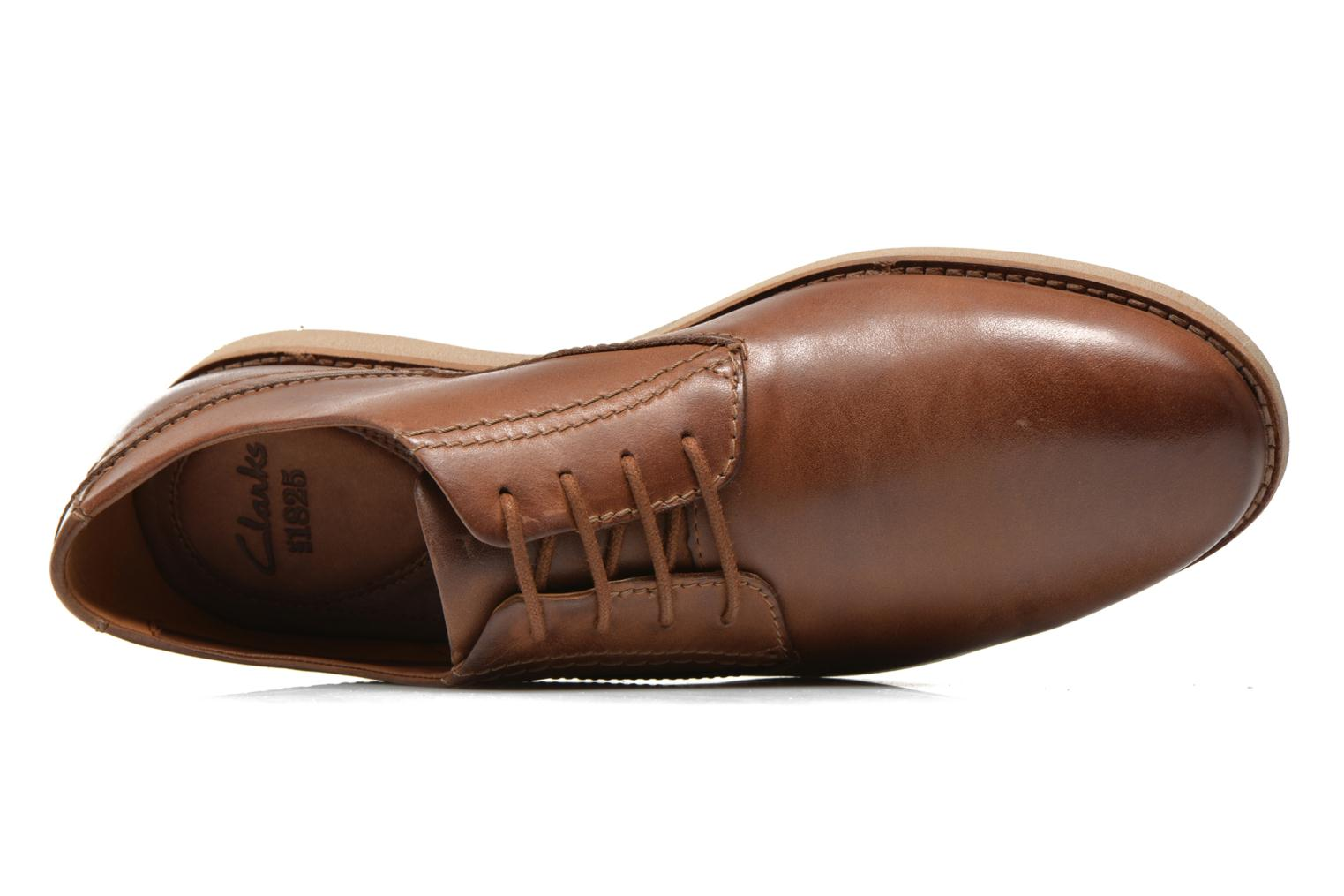 Veterschoenen Clarks Franson Plain Bruin links