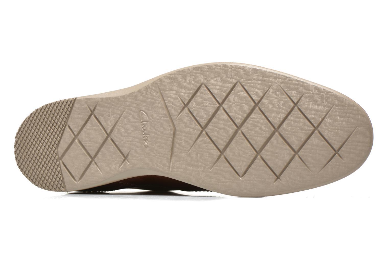 Chaussures à lacets Clarks Franson Plain Marron vue haut