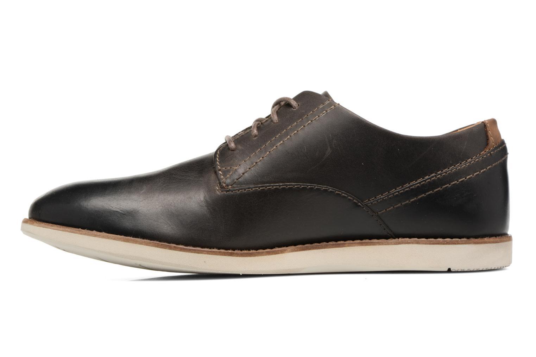 Zapatos con cordones Clarks Franson Plain Gris vista de frente