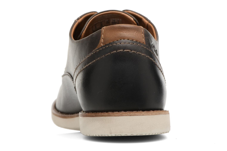 Chaussures à lacets Clarks Franson Plain Gris vue droite