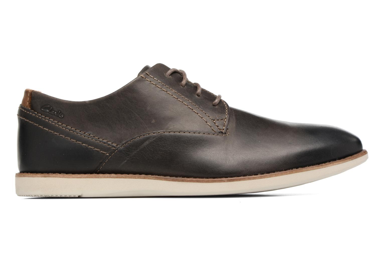 Chaussures à lacets Clarks Franson Plain Gris vue derrière