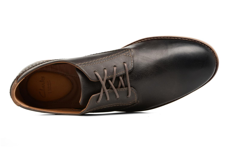 Snörade skor Clarks Franson Plain Grå bild från vänster sidan