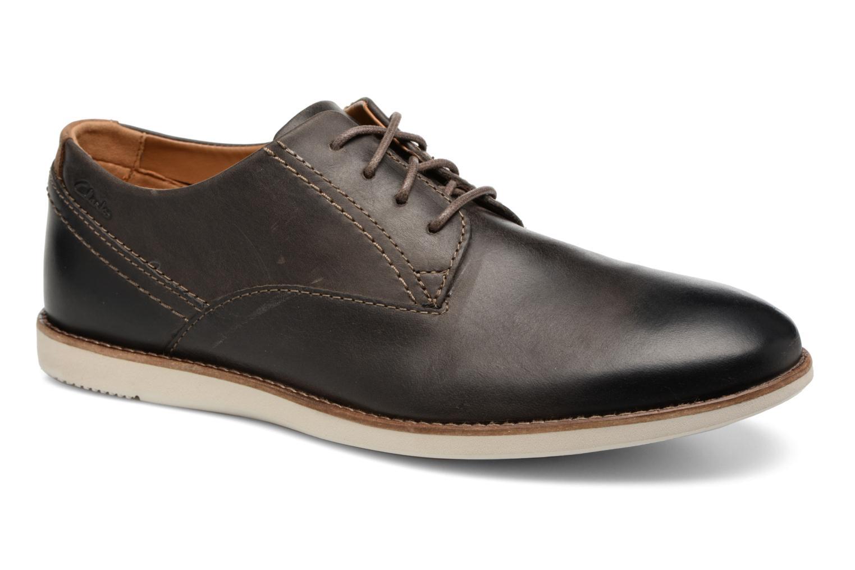 Zapatos con cordones Clarks Franson Plain Gris vista de detalle / par