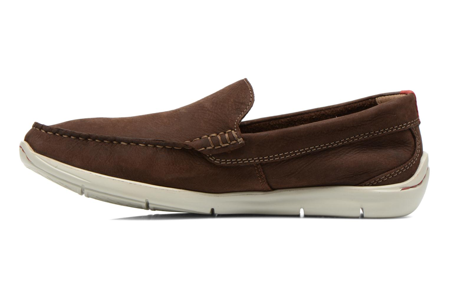 Loafers Clarks Karlock Lane Brown front view