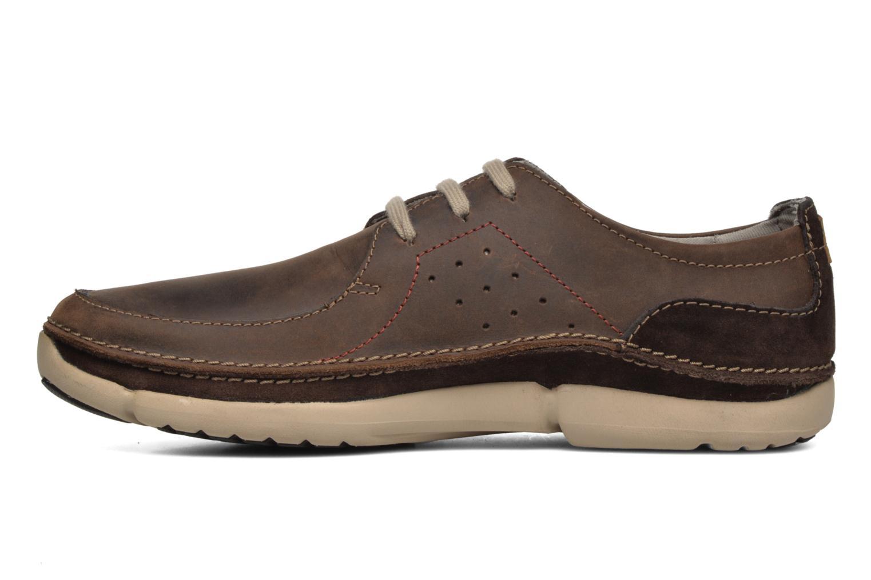 Chaussures à lacets Clarks Trikeyon Fly Marron vue face