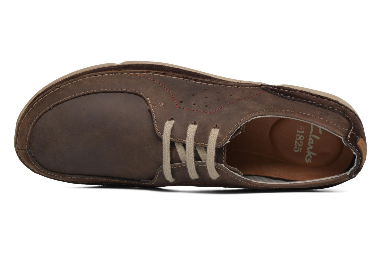 Chaussures à lacets Clarks Trikeyon Fly Marron vue gauche