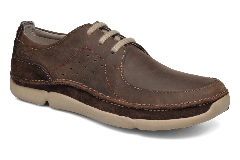 Chaussures à lacets Clarks Trikeyon Fly Marron vue détail/paire