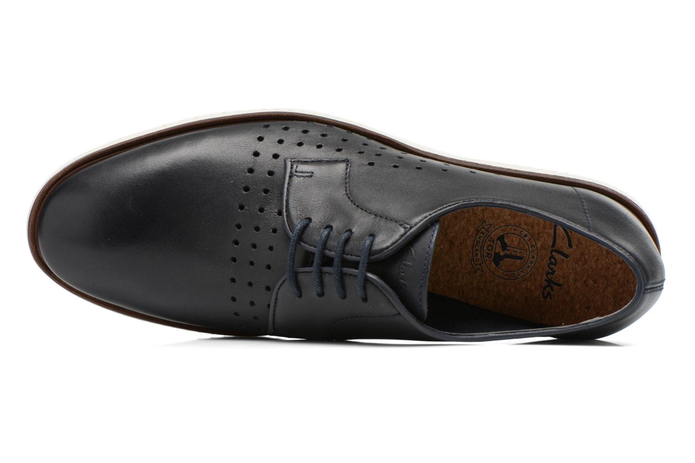 Chaussures à lacets Clarks Tulik Edge Bleu vue gauche